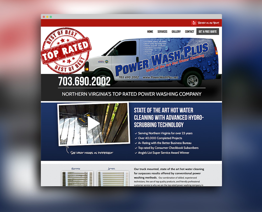 Power Wash Plus Website