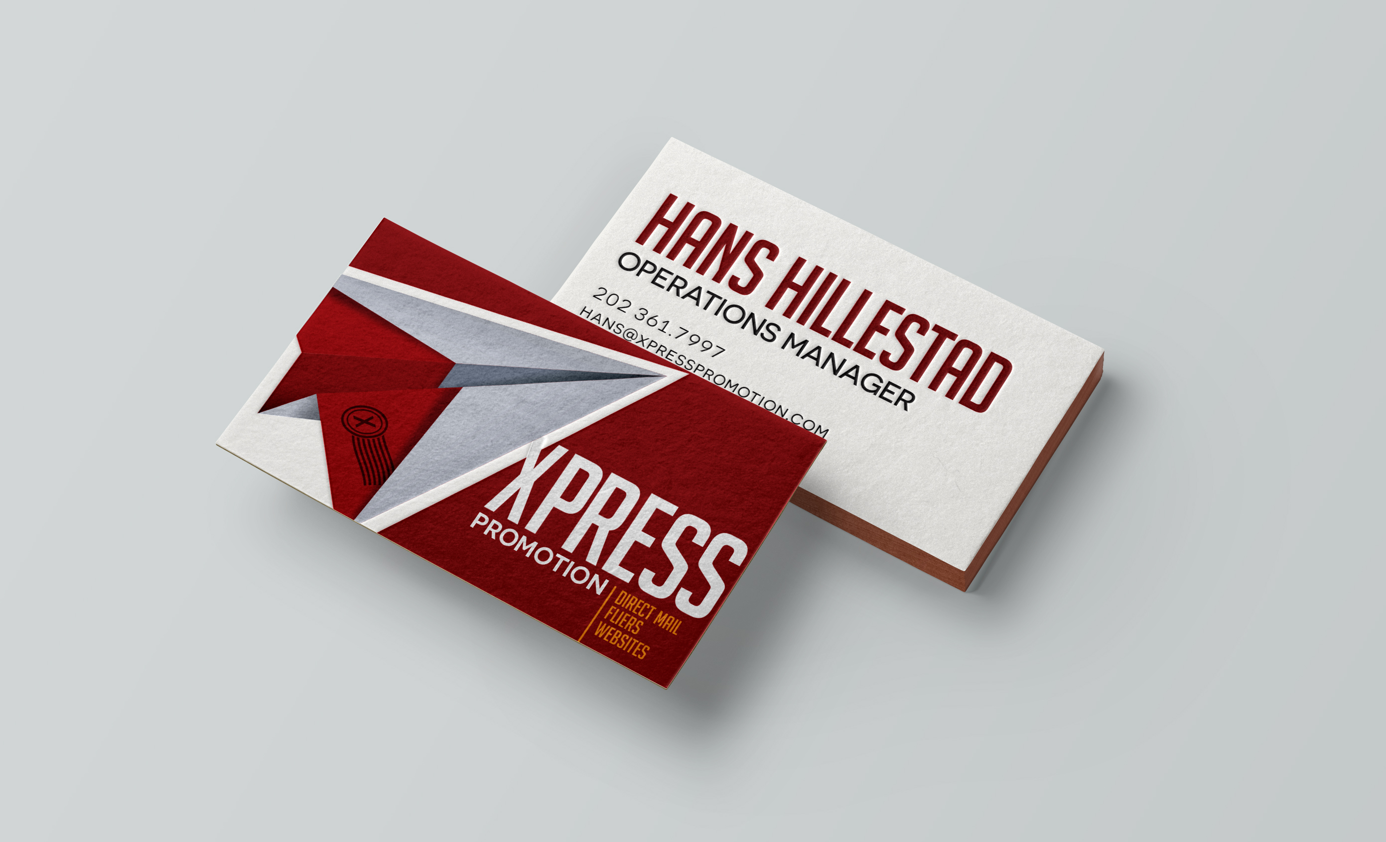 Bright Red Business Cards