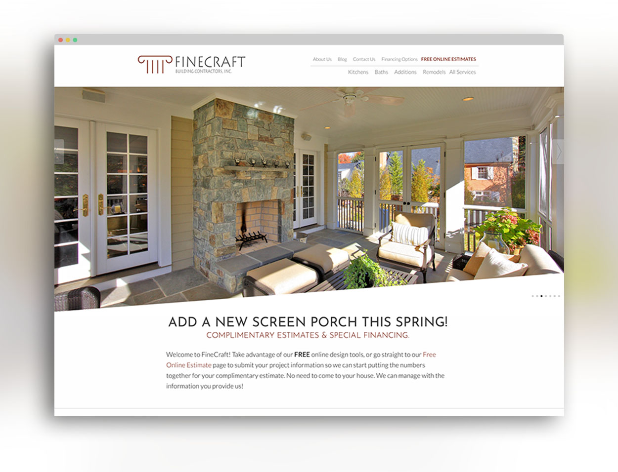 FineCraft Contractors Website
