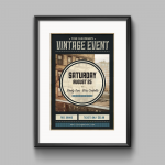 Vintage Event Poster